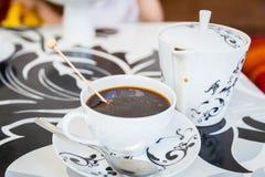 Belle cuvette de café Image stock
