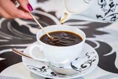 Belle cuvette de café Photo libre de droits