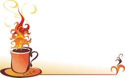 Belle cuvette de café. Image stock
