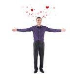 Belle déclaration de jeune homme de l'amour vous accueillant Photos libres de droits