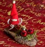 Belle décoration d'ange de Noël Photographie stock libre de droits