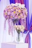 Belle décoration de mariage de fleur Photos libres de droits