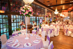 Belle décoration de mariage, fleurs de variété Photos libres de droits