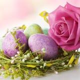 Belle décoration de Pâques photo libre de droits