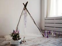 Belle décoration pour épouser la séance photos Photo stock
