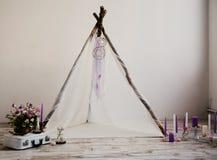 Belle décoration pour épouser la séance photos Images stock
