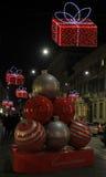 Belle décoration sur la rue à Milan, Italie Photographie stock libre de droits