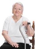 Belle dame âgée Photo libre de droits