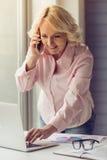 Belle dame âgée Images stock