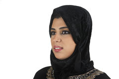 Belle dame Arabe s'usant islamique traditionnel Photographie stock libre de droits