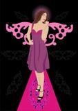 Belle dame avec des ailes Illustration Libre de Droits