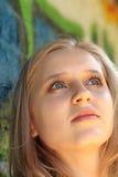 Belle dame blonde Photographie stock libre de droits