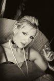 Belle dame dans la sépia Image stock