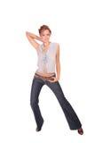 Belle danse de femme de mode Images libres de droits