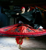 Belle danse vers l'est danse égyptienne nationale Tanura Image stock