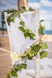 Belle decorazioni romantiche di cerimonia di nozze Messa a punto vicino al immagine stock