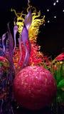 Belle disposition faite sur commande fleurie de verre soufflé Image libre de droits