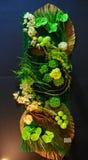 Belle disposizioni dell'interno dell'estratto della flora Fotografie Stock