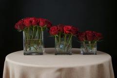 Belle disposizioni di fiore di rosa Fotografie Stock