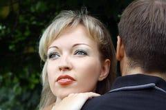 Belle donne che sognano vicino in su Fotografia Stock Libera da Diritti