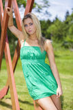 Belle donne dell'occhio azzurro Fotografia Stock