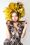 Belle donne di autunno. Fotografia Stock