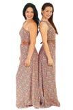 Belle donne in stessi vestito immagini stock libere da diritti