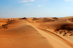 Belle dune in deserto dell'Oman Immagine Stock