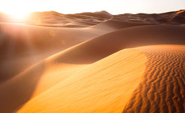 Belle dune di sabbia in Sahara Desert Immagini Stock Libere da Diritti