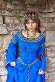 Belle Eleanor de l'Aquitaine, duchesse et reine d'Angleterre et Frances sur des Moyens Âges élevés photo libre de droits