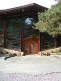 Belle entrée principale conçue artistique à Hall universel à la Communauté de Findhorn, Ecosse Photographie stock
