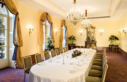 Belle Epoque: The Beau Rivage Palace Conference Room royalty free stock photography