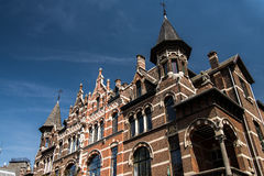 Belle Epoque-wijk  in the city of Antwerp, Belgium. Nice buildings in the Belle Epoque street  in the city of Antwerp, Belgium Royalty Free Stock Image