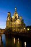 Cathédrale du Christ le sauveur à St Petersburg, Russie Image libre de droits