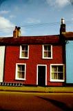 Belle et colorée vieille maison irlandaise à Dublin Images stock