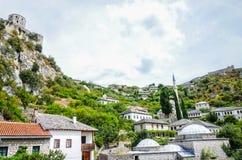 Belle et historique vieille vue de ville Images libres de droits