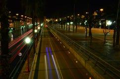 Barcelone la nuit Images stock