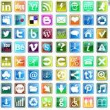 Belle et pratique icône de Web Photo stock