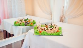 Belle et savoureuse nourriture au restaurant Image stock
