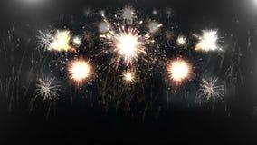 Belle explosion 4K de feux d'artifice illustration libre de droits
