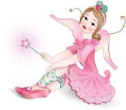 Belle fée avec la baguette magique magique Photos stock