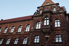 Belle façade d'un bâtiment en Pologne photographie stock