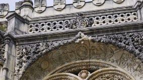 Belle façade ornementée du bâtiment banque de vidéos