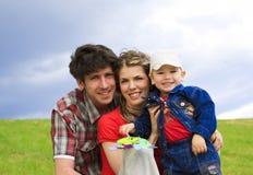 Belle famille Photographie stock libre de droits