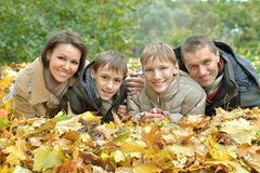 Belle famille heureuse Photos stock