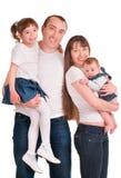 Belle famille heureuse. Père, mère et enfants images libres de droits