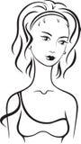 Belle femelle Images libres de droits