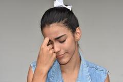 Belle femelle adolescente triste photos stock