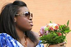 Belle femelle d'Afro-américain Photos stock