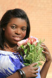 Belle femelle d'Afro-américain Images stock